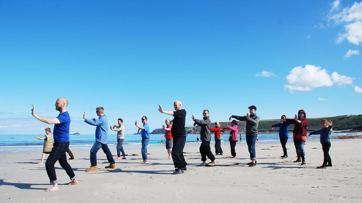 T'ai Chi dance on the beach
